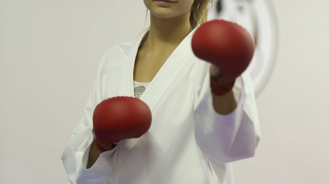 La actriz Katheryn Winnick, caracterizada como Lagertha