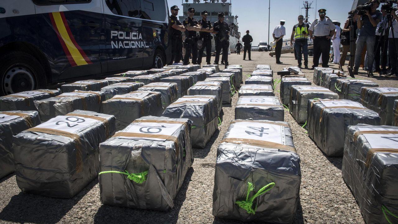 Aprehensión de 1.500 kilos de cocaína a bordo de un velero