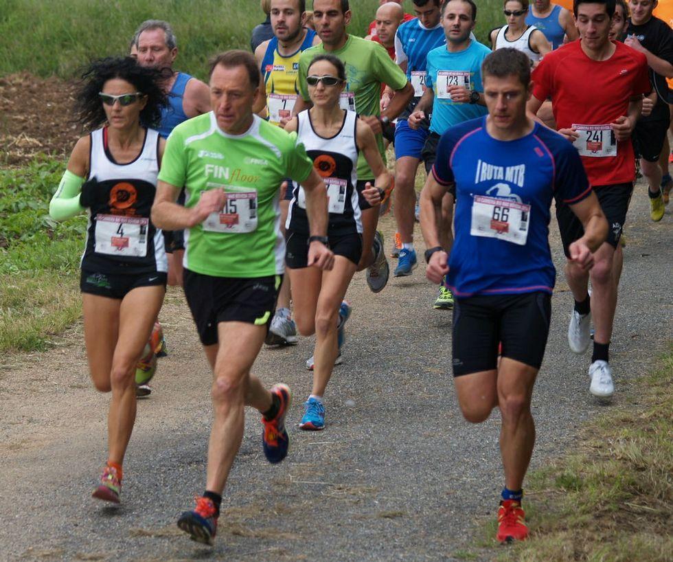 .Muchos atletas participan en las carreras de la zona.