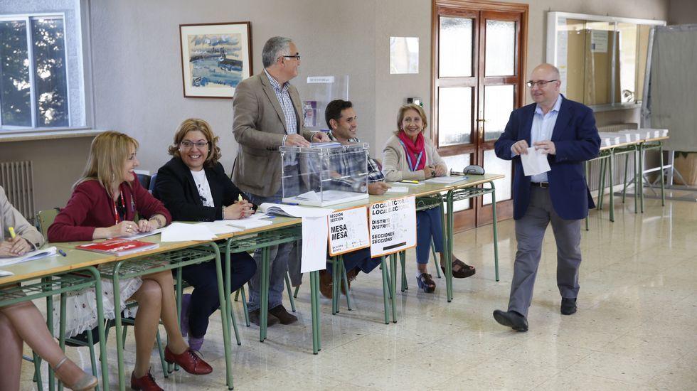 Votación del candidato del PSOE en Santiago.