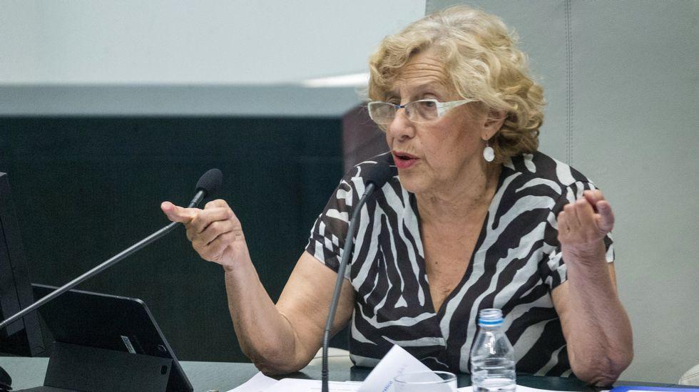 Ignacio González acude a declarar ante el juez.Esperanza Aguirre, como ministra de Cultura en el 2006, junto a Manuel Fraga.