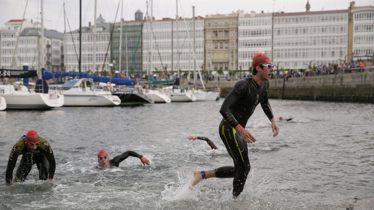 La carrera de Trashorras en imágenes.Imagen del Triatlón Ciudad de A Coruña celebrado en mayo del 2017