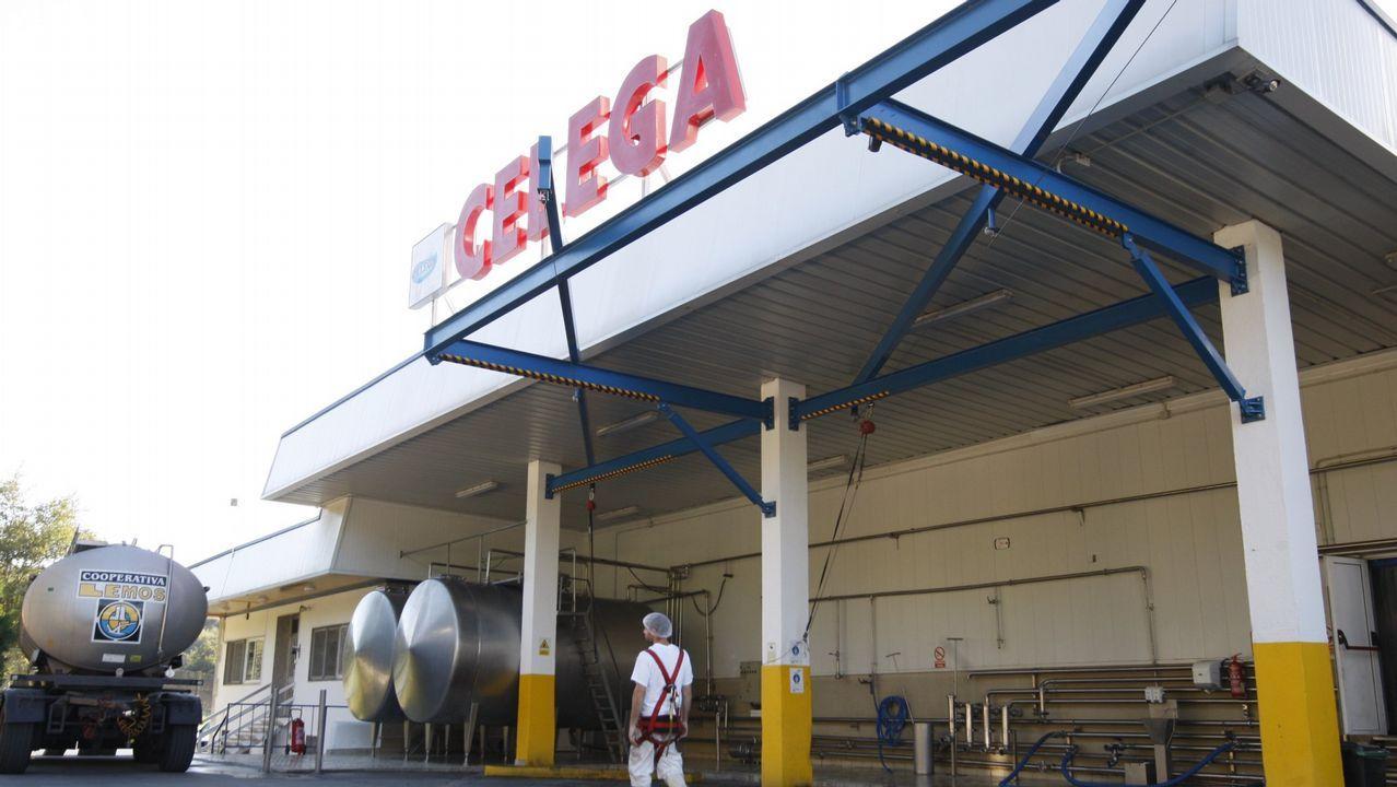 Fábrica de Celega (Central Lechera de Galicia) cerca de Escairón
