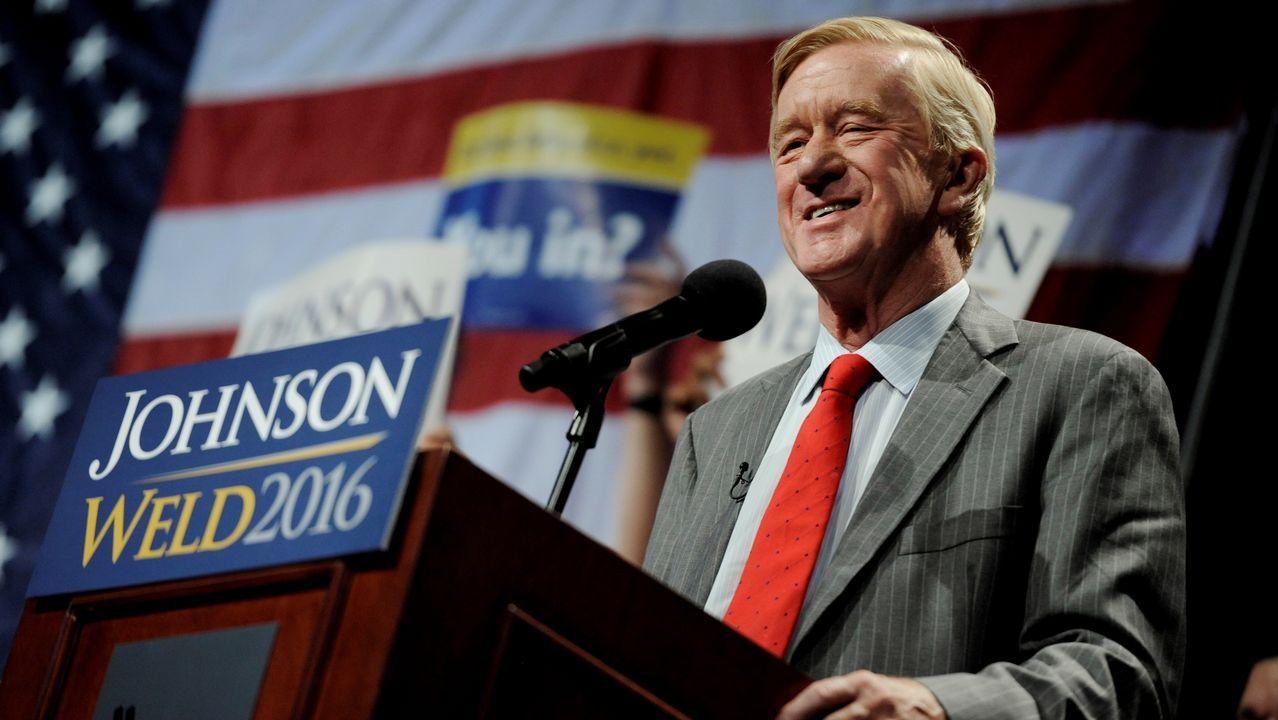 Bill Weld, durante un mitin en Nueva York en la campaña del 2016