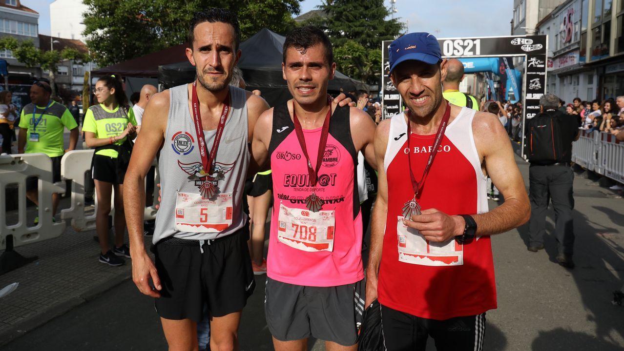 El portugués Nuno Pinto ganó el medio maratón Os 21 do Camiño