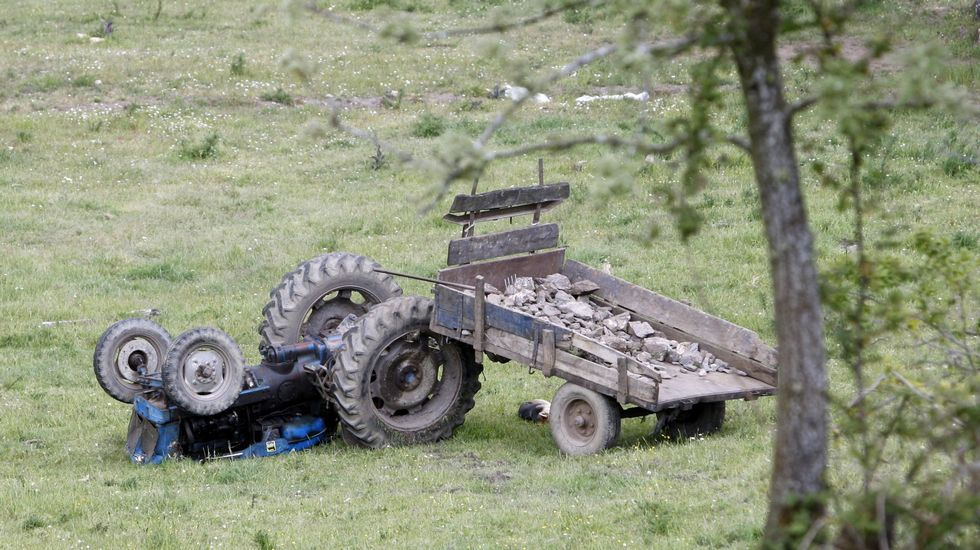 En la parroquia de A Cervela se produjo en el año 2013 otro accidente mortal con un tractor