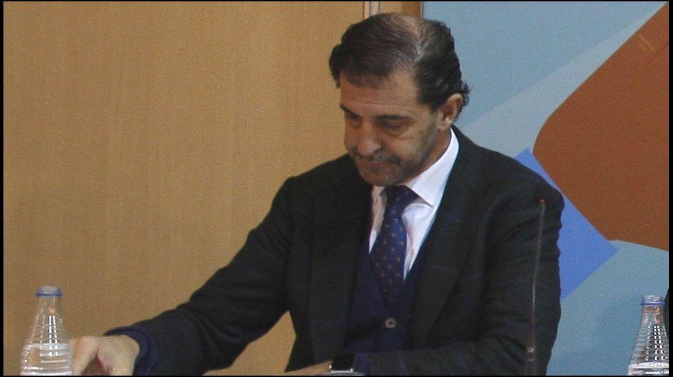 . El presidente de la Federación Asturiana de Empresarios (FADE), Pedro Luis Fernández