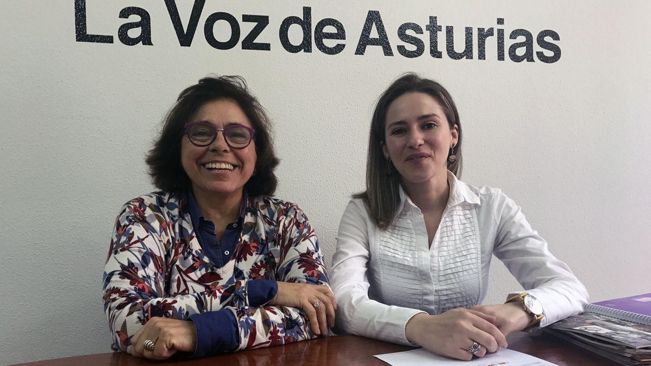 Por la izquierda, Adonina Tardón y Carla Rubiera.Por la izquierda, Adonina Tardón y Carla Rubiera
