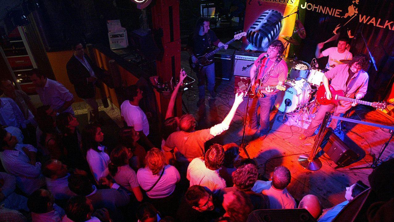 Imagen de archivo de un concierto de Los Limones en un pub de Vigo en el 2004