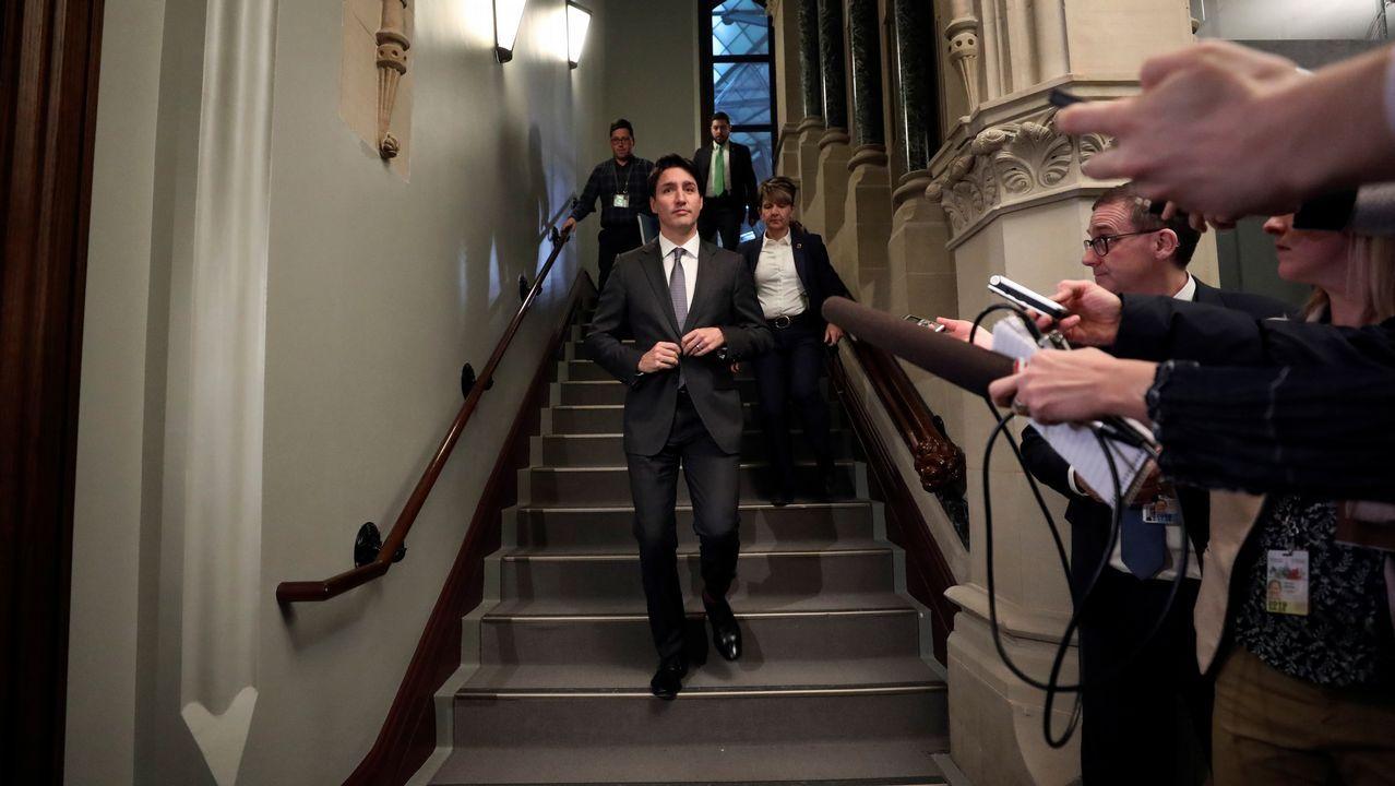 Justin Trudeau, a su llegada al Parlamento