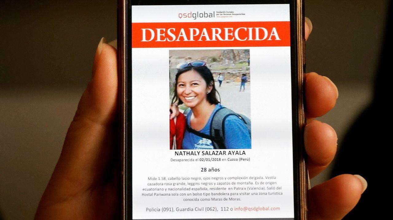 La familia busca a la joven desaparecida en Perú.Eva Parga Dans, investigadora de la Facultade de Socioloxía de la udc