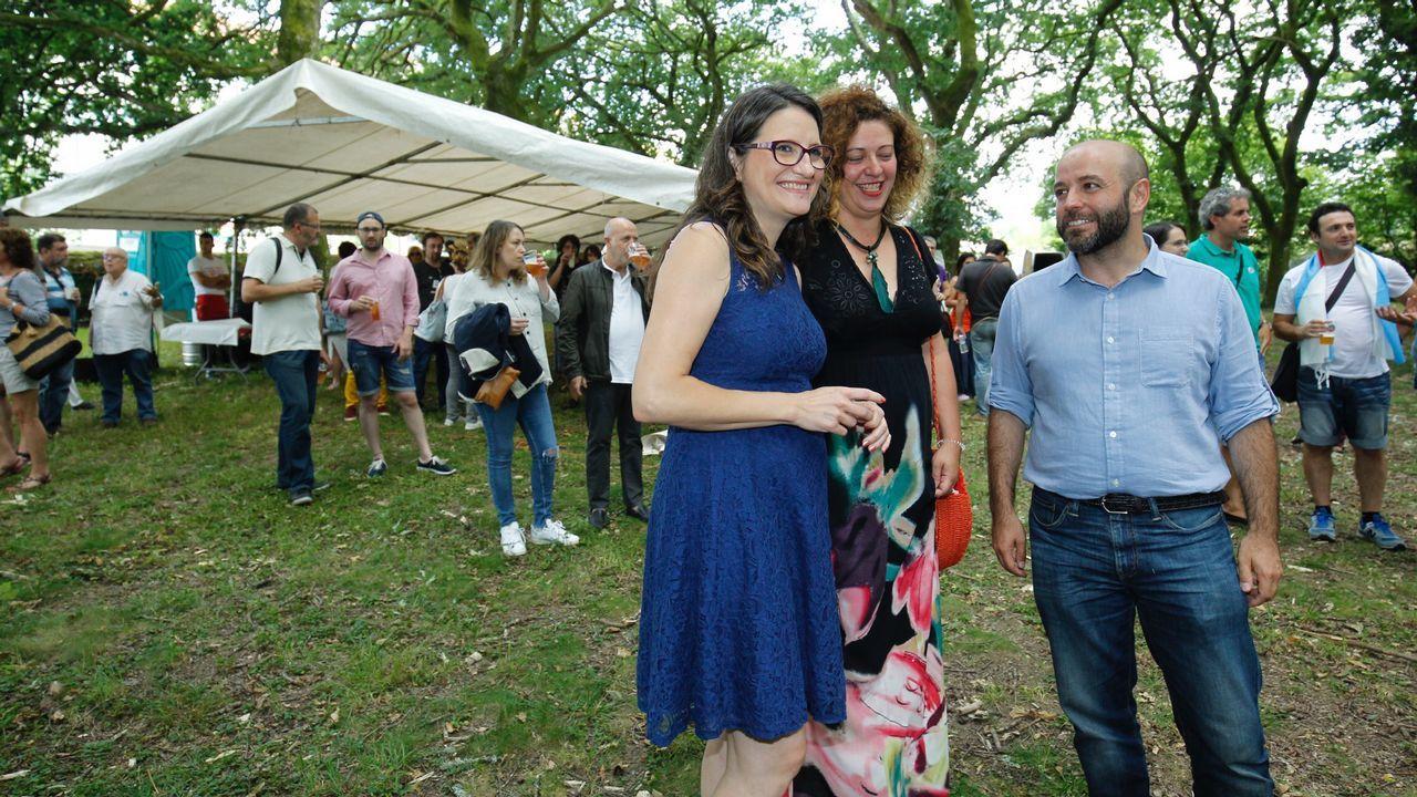 .Acto político de En Marea en Santiago, con Luís Villares y Mónica Oltra