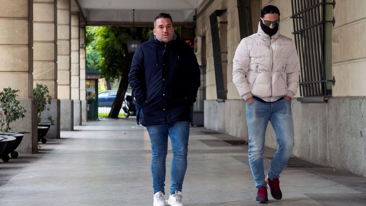 Los miembros de La Manada siguen desde Sevilla por videoconferencia la vista de Navarra.Uno de los miembros de la manada, en los juzgados de Sevilla