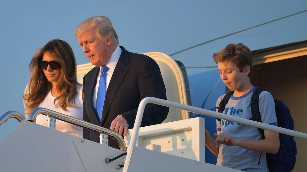 La apuesta de Melania Trump por la moda española.Familia Trump
