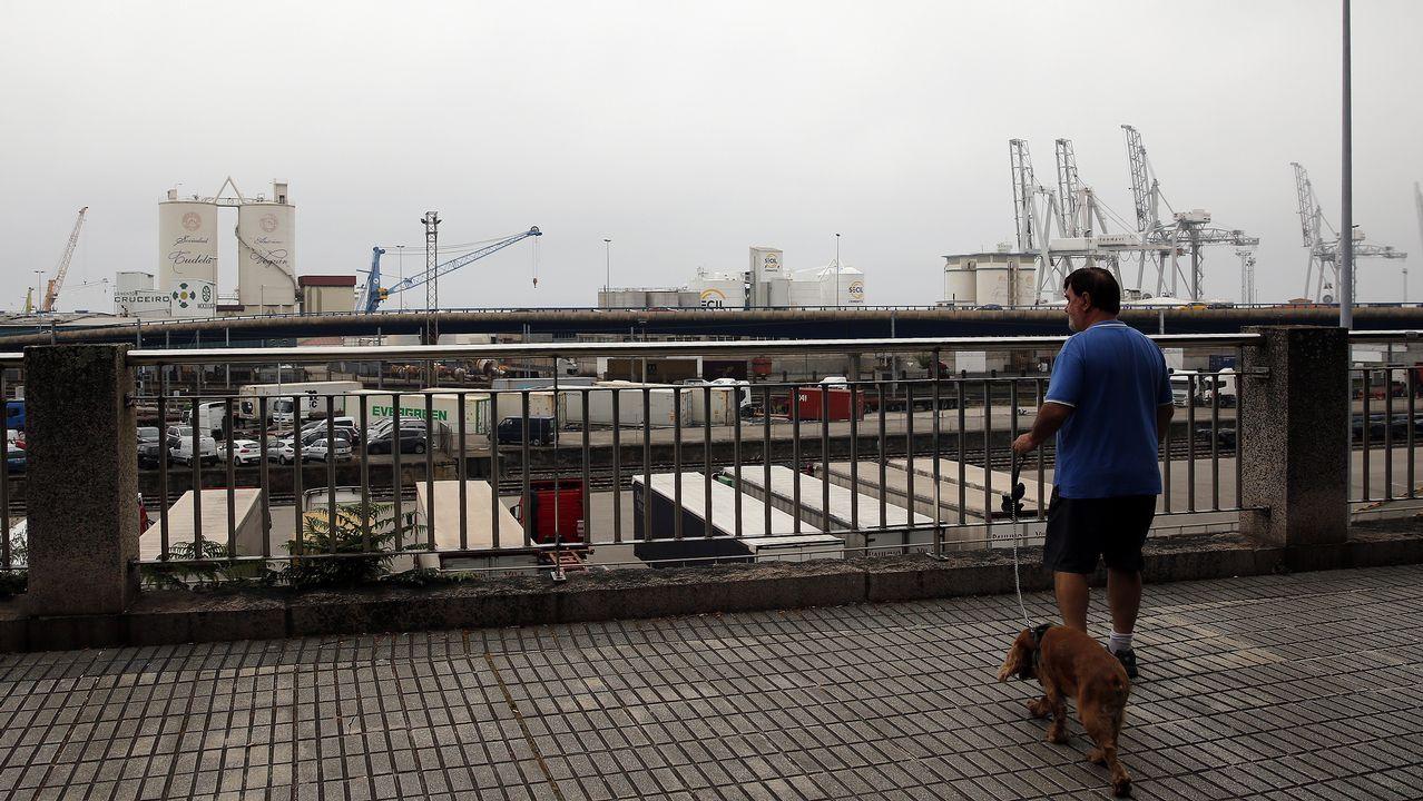 .La niebla redujo la visibilidad en Vigo