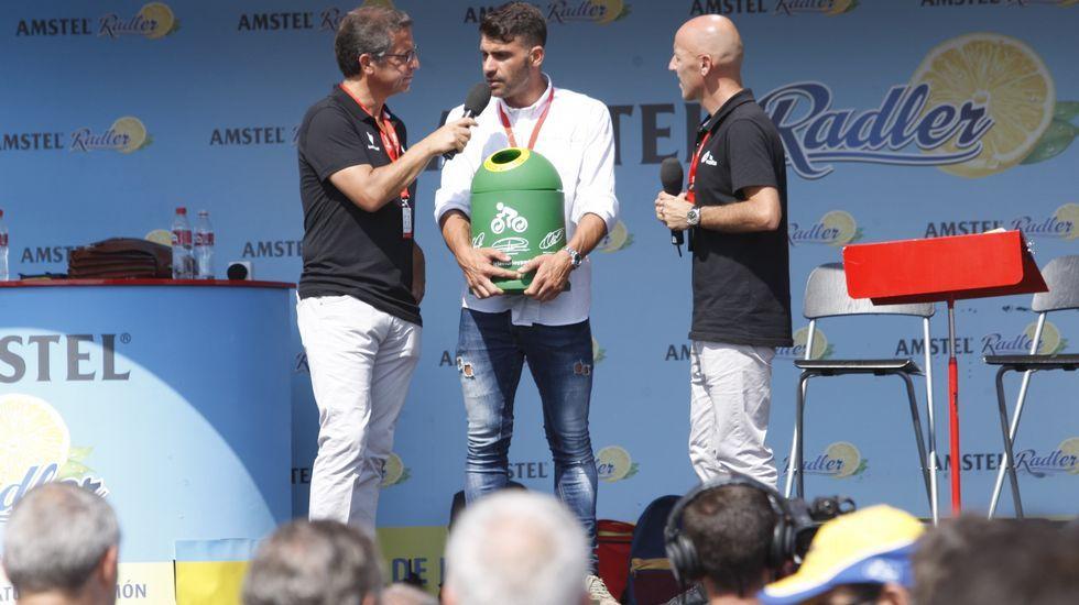El ganador de un Tour, Oscar Pereiro, estuvo en la salida de la prueba