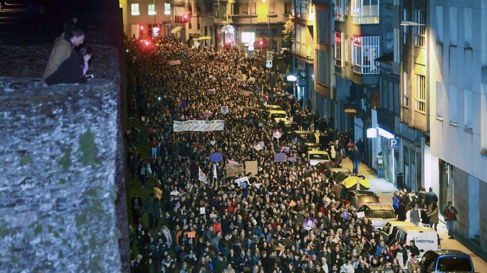 La jornada feminista en las calles de Lugo