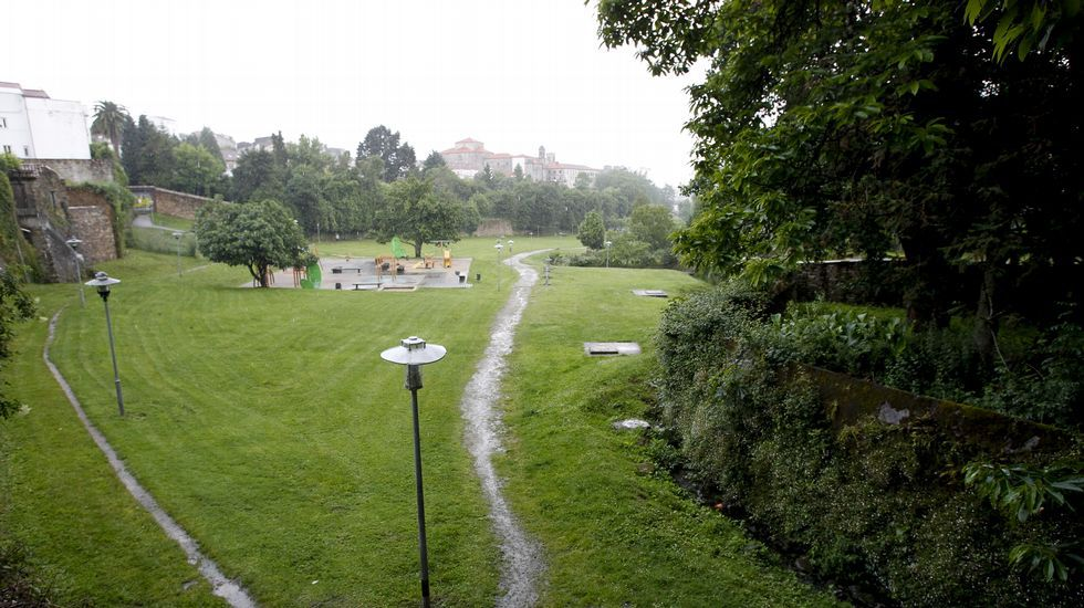 Vistas del parque de Belvís desde la Casa da Xuventude