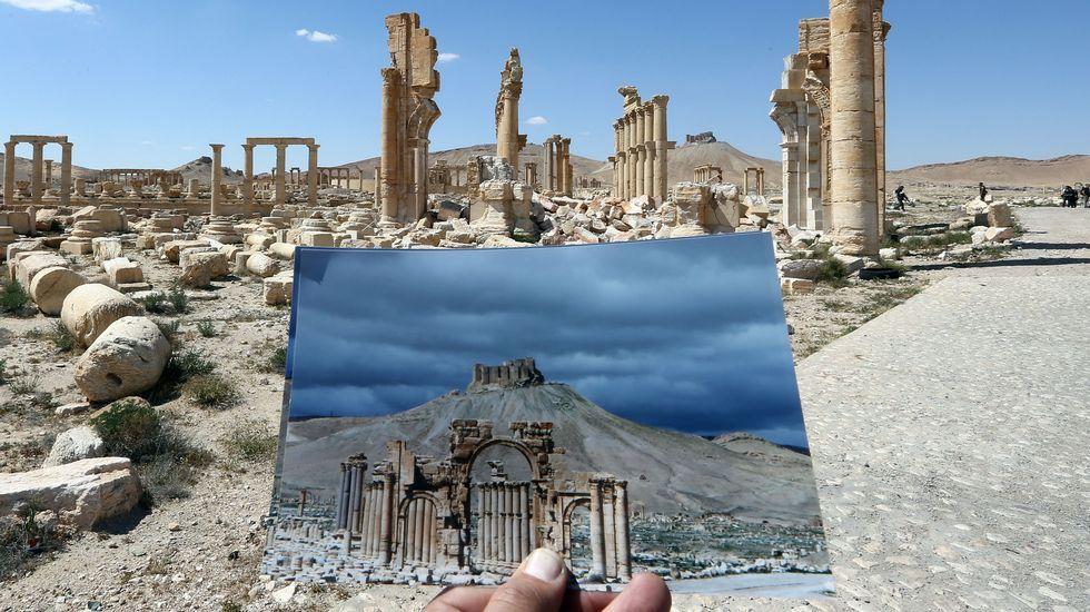 El antes y el después del paso del Estado Islámico por Palmira