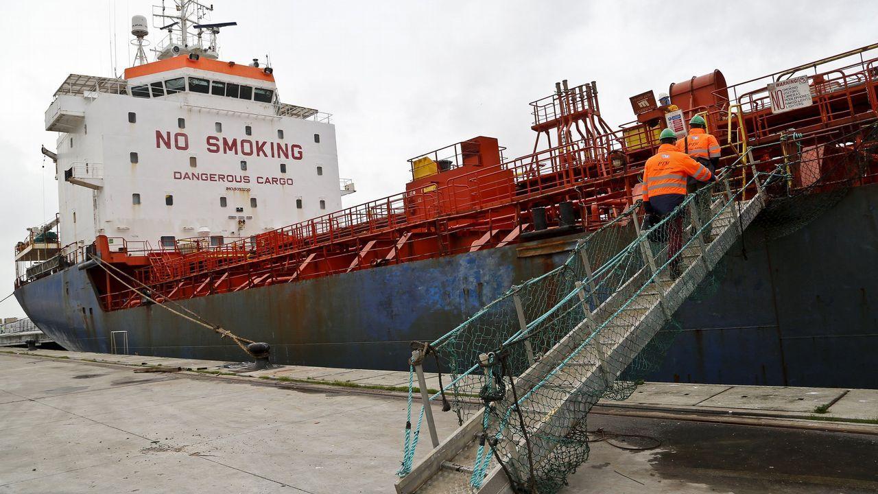 Panorámica tomada desde la Campa de Torres del puerto de El Musel de Gijón