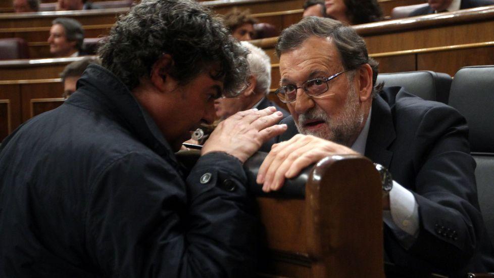 Ovidio Sánchez y Agustín Iglesias Caunedo..Rajoy y Mercedes Fernández en Gozón