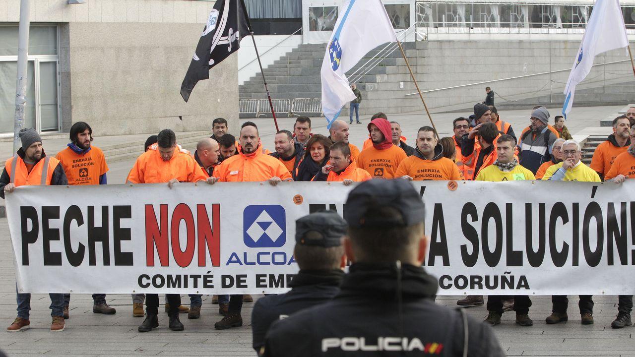 Protesta de Alcoa en Vigo Protesta de Alcoa en Vigo