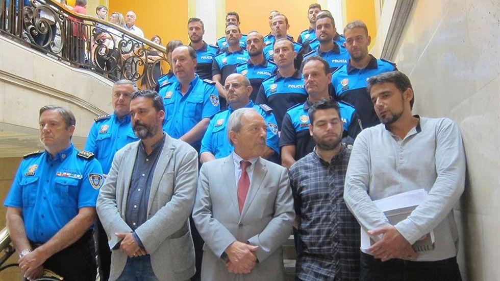 La corporación presenta la ampliación de plantilla de Policía Local de Oviedo.La corporación presenta la ampliación de plantilla de Policía Local de Oviedo