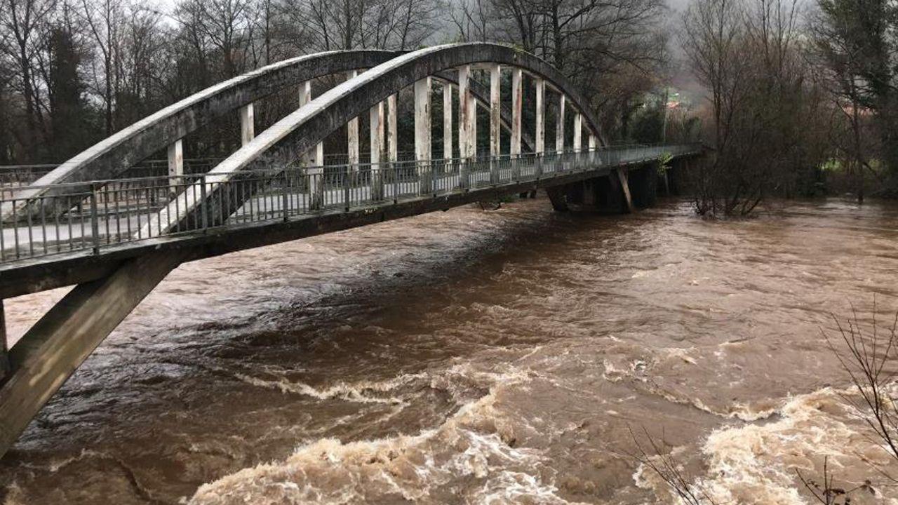 La crecida de los ríos asturianos