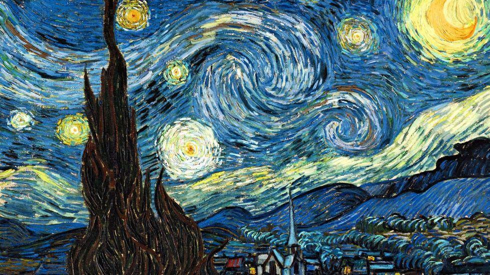 «La noche estrellada» (1889), de Vincent van Gogh. Museo de Arte Moderno de Nueva York
