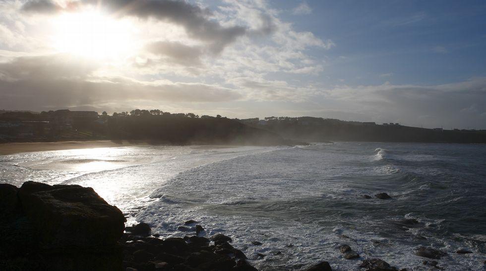 Playa de Retorta, en Boiro.Playa de Areas Gordas, en Sanxenxo