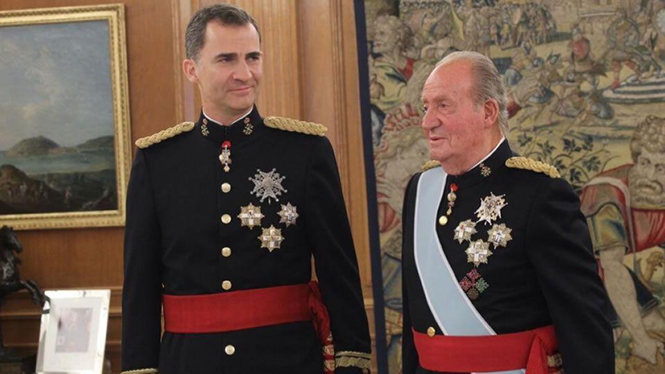 .Felipe VI y Juan Carlos I en La Zarzuela