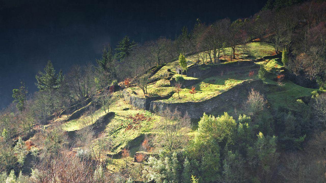 Ola de calor en Asturias.Castro Castelón de Illano