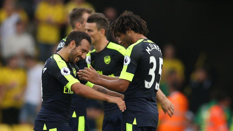 El debut de Lucas Pérez con el Arsenal, en imágenes.Ikechukwu Uche