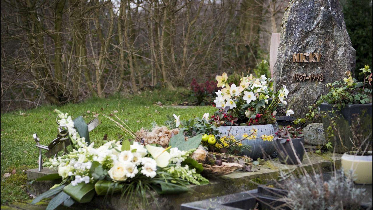La tumba del pequeño Nicky Verstappen, fallecido en 1998