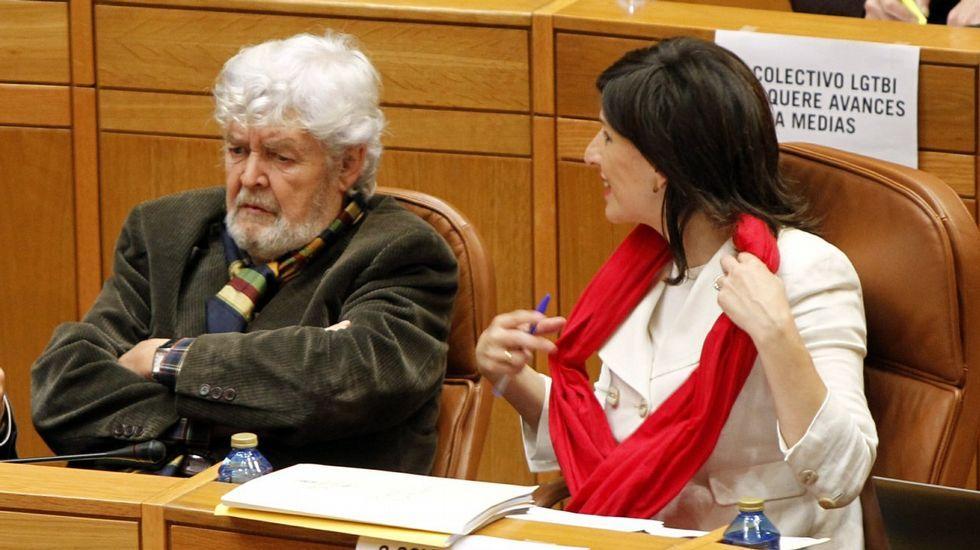 .Yolanda Díaz y Beiras en el Parlamento