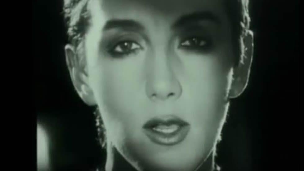 Mecano - El 7 de Septiembre.Ana Torroja y Jose María Cano, durante su concierto de 1989 en María Pita