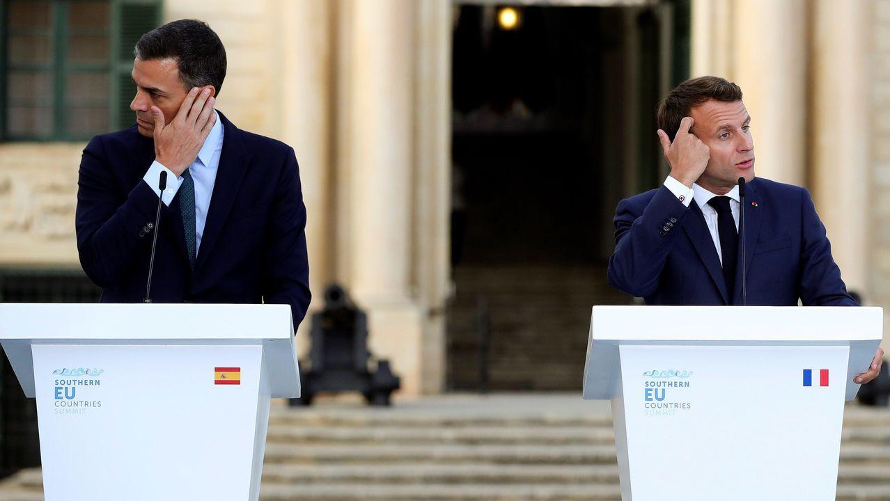 Pedro Sánchez asistió en Malta a la cumbre de los países del sur de Europa —Francia, España, Portugal, Italia, Grecia, Chipre y la anfitriona—, donde coincidió por primera vez con el presidente francés, Emmanuel Macron, tras las advertencias de este a Cs por sus pactos con Vox