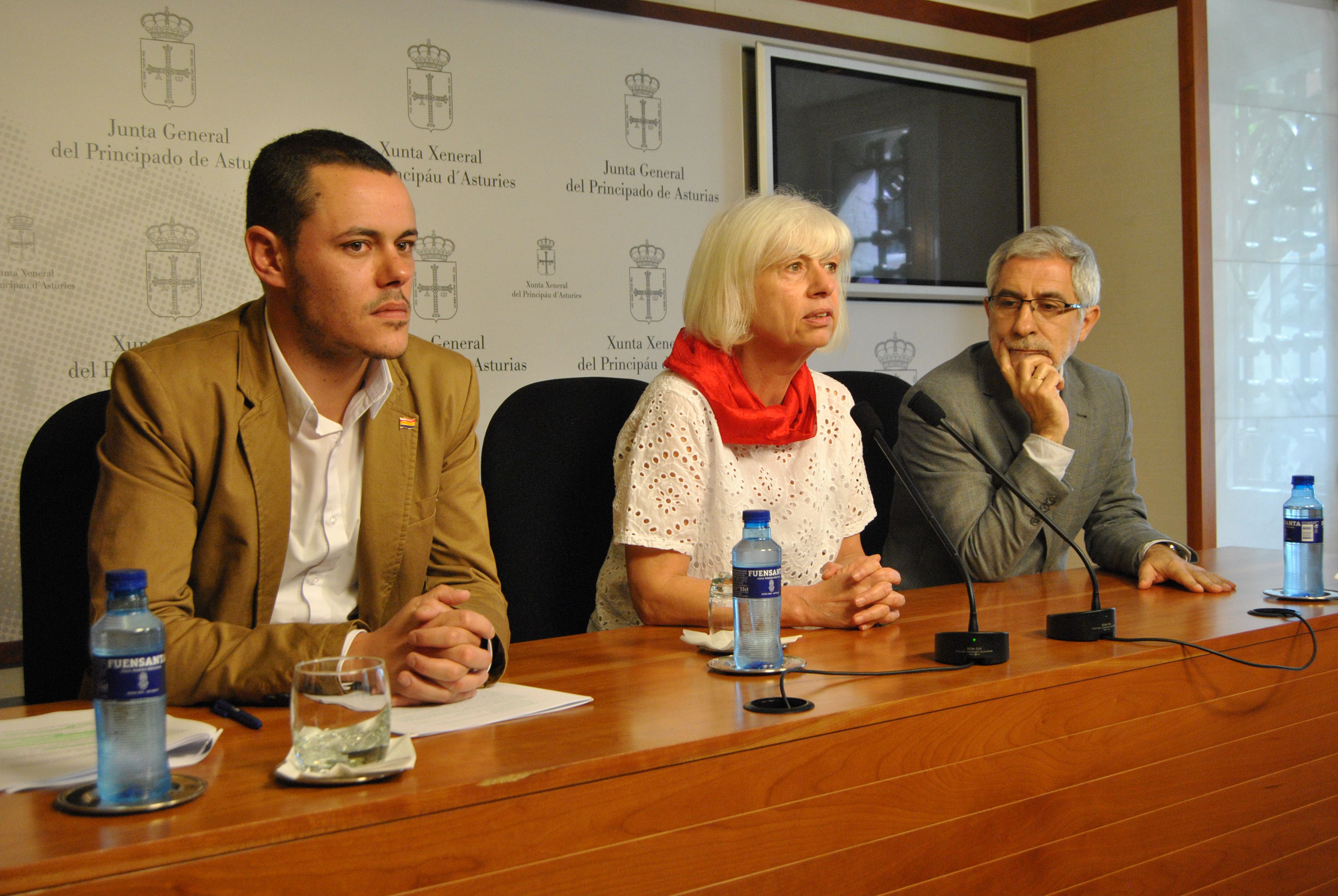 Francisco Erice.Promotores de la ley de memoria histórica asturiana