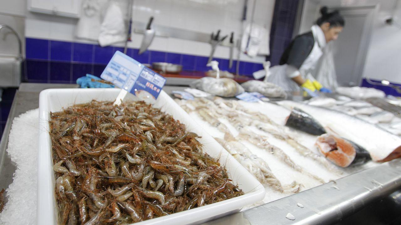 En puestos como Pescadería Fran no hubo variaciones de precio y los camarones se vendieron este miércoles a 25 euros, igual que el día anterior