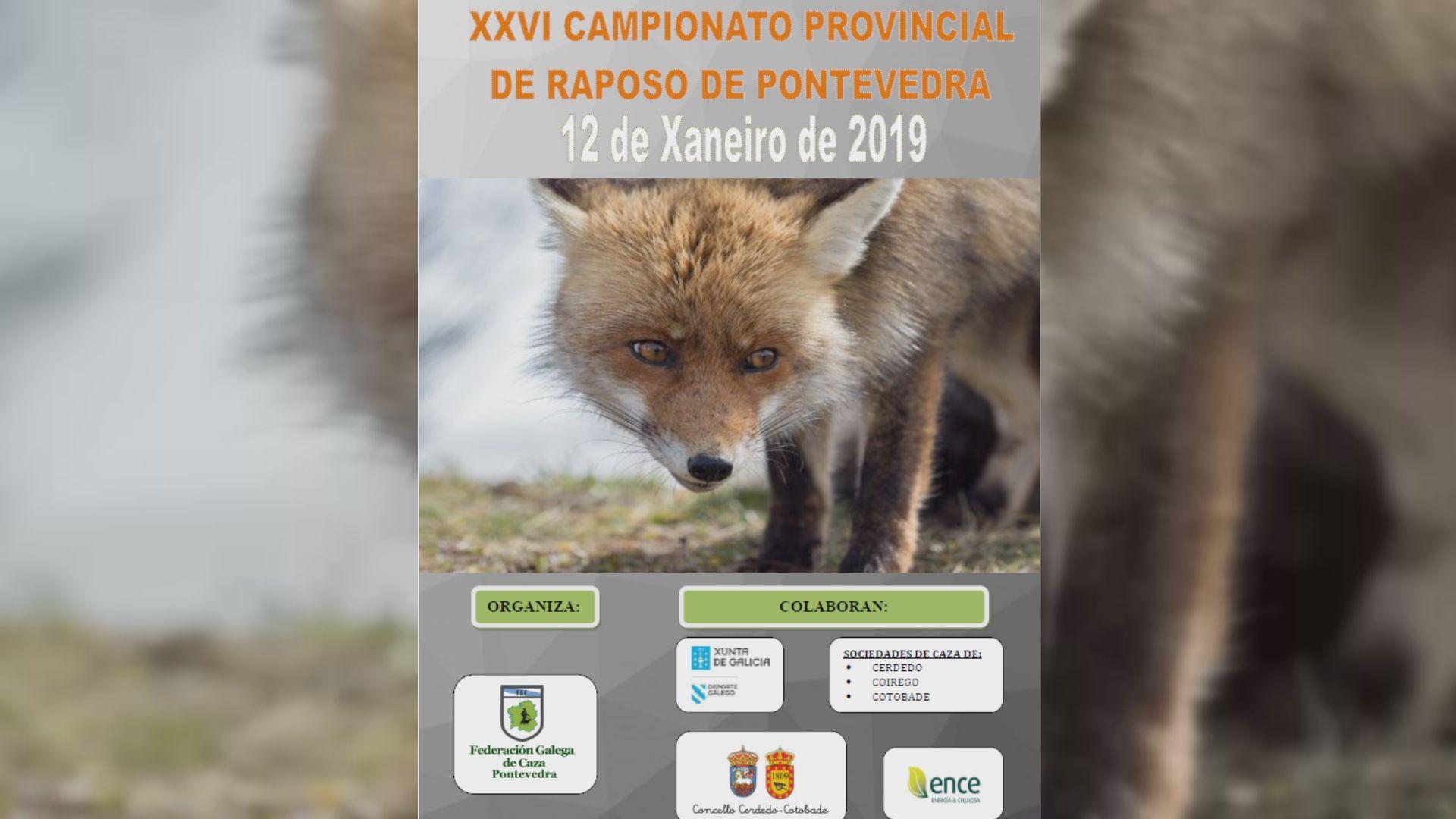 Critican la aparición de logotipos de la Xunta en los carteles de campeonatos de caza de zorro