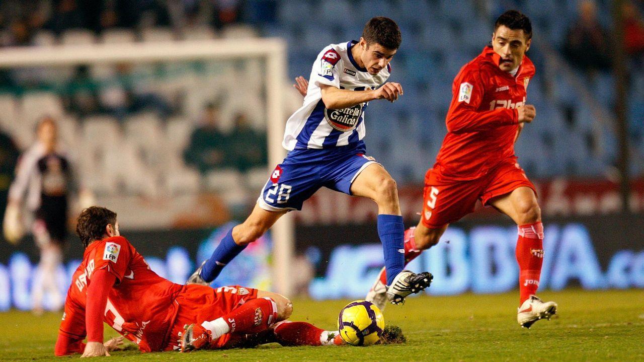 El naronés en un partido de Copa frente al Sevilla