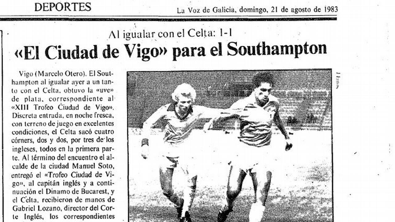 Celta-Southamtpon en el Ciudad de Vigo de 1983