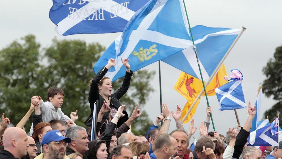 Multitudinaria manifestación proeuropea en Escocia.