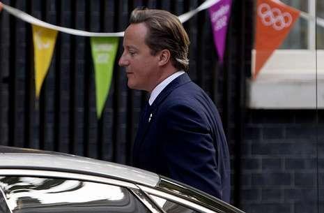 El primer ministro británico, David Cameron, ayer a su llegada a Downing Street.