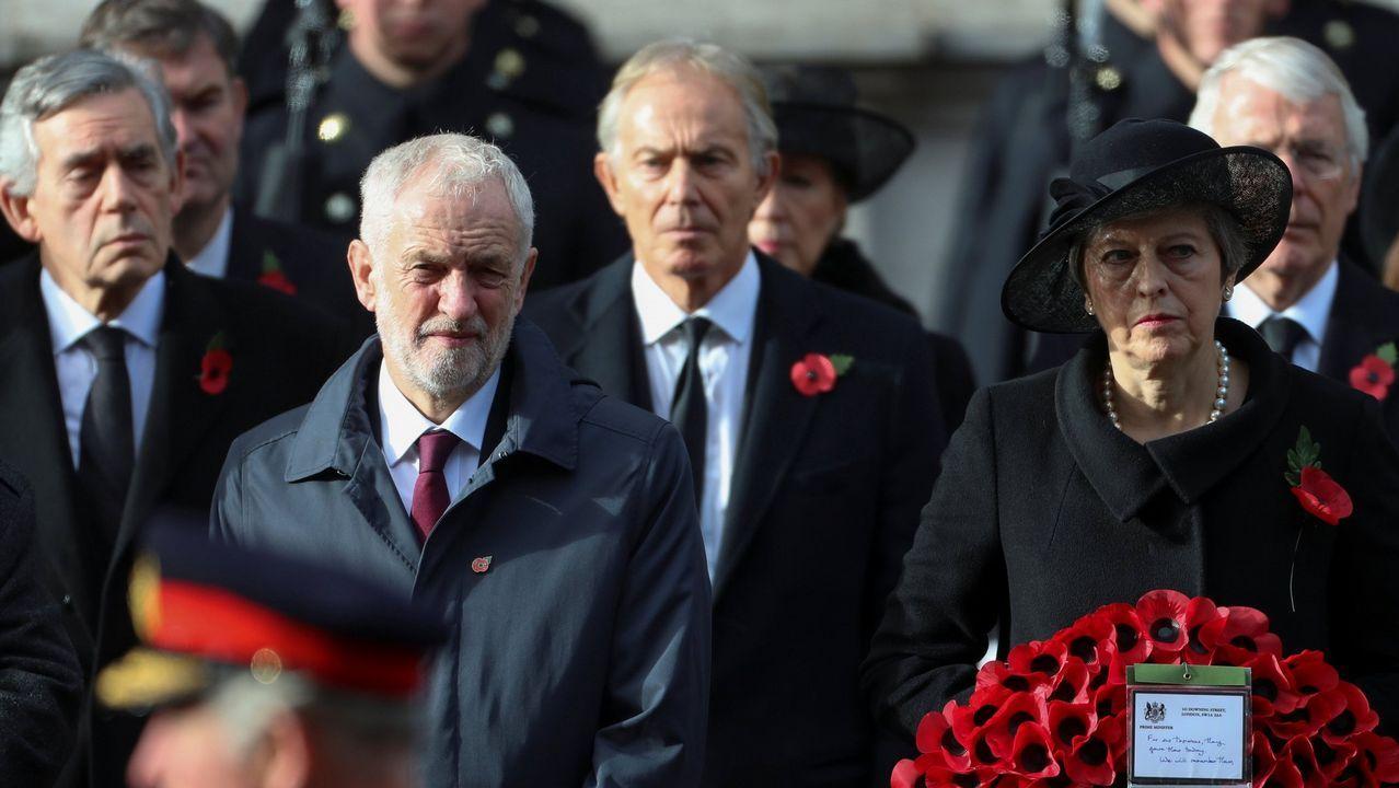 Partidarios de un segundo referendo pidieron a Corbyn un compromiso más firme..Los ex primeros ministros laboristas Blair y Brown coinciden con el conservador Major en reclamar otra consulta