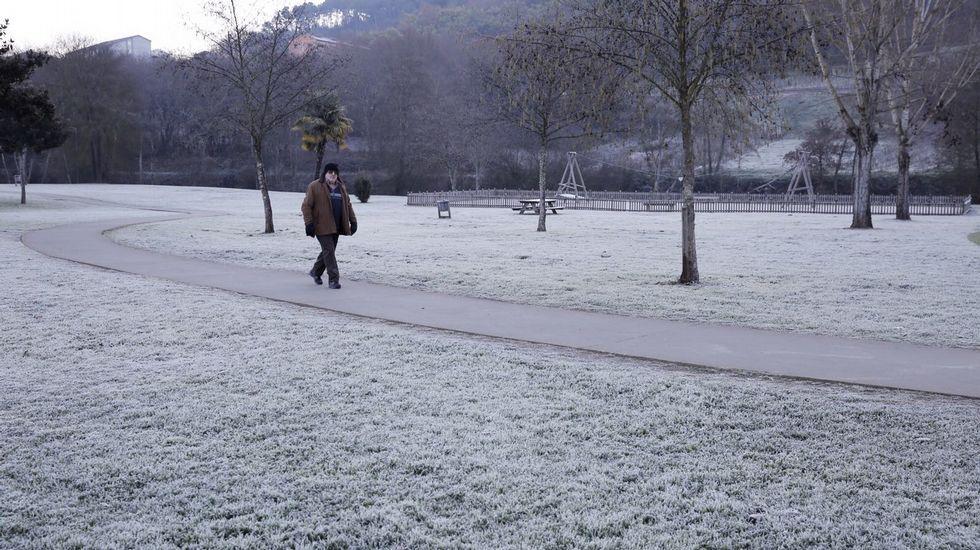 El sábado nevará por encima de los 800 metros.Imagen de una helada