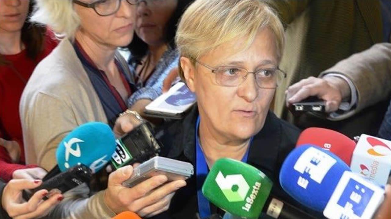 La diputada del PSOE portavoz de Igualdad Ángeles Álvarez, quien tuvo el empeño de sacar adelante la prestación no contributiva para todos los menores huérfanos