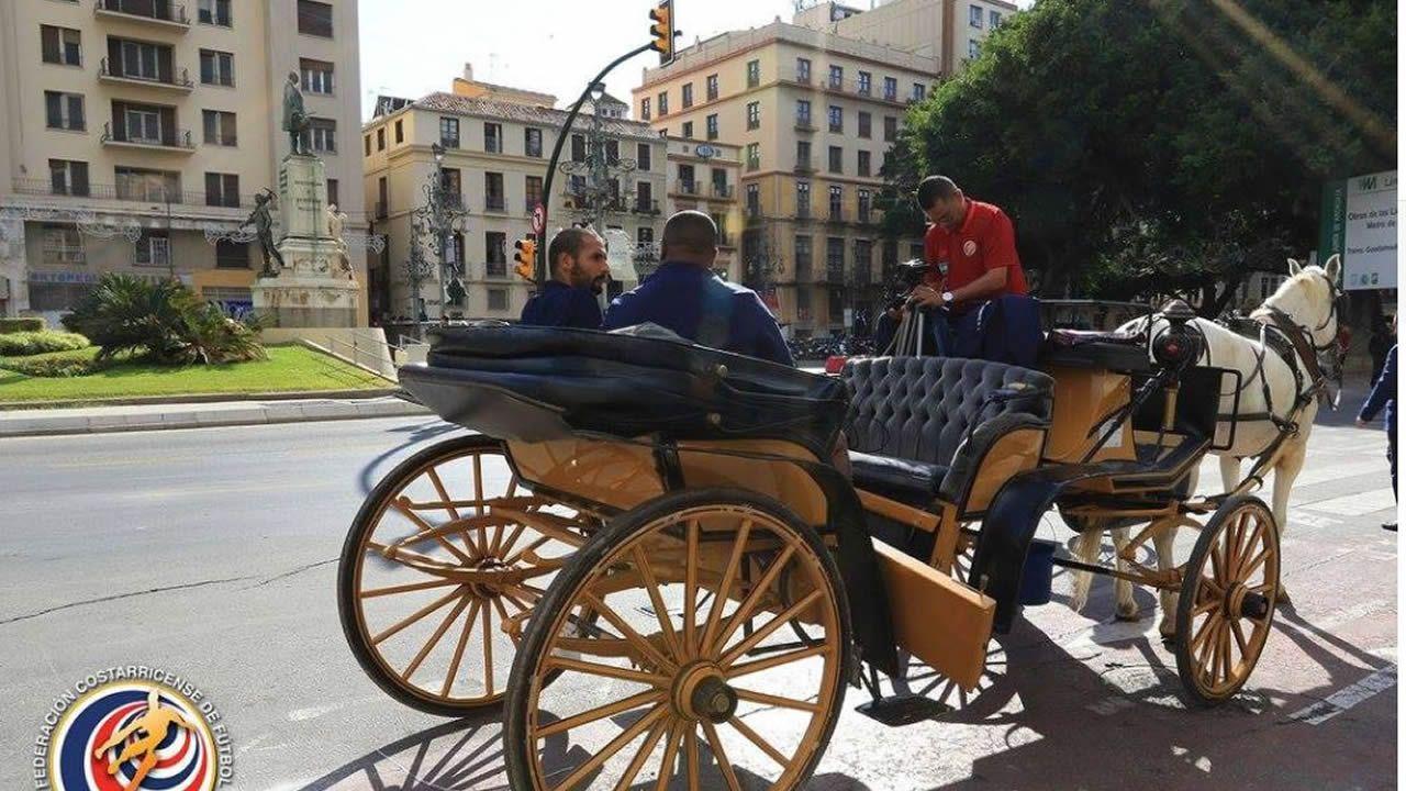 .Entrevista realizada a Celso Borges por la federación tica por las calles de Málaga