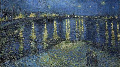 Uno de los pintores que frecuentemente se asocia con la tristeza es Van Gogh, que vivió atormentado por su soledad. «Noche estrellada sobre el Ródano» (1888, Museo de Orsay, París)
