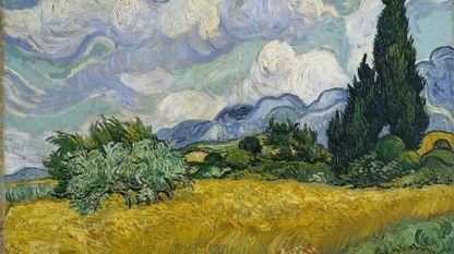 «Campo de trigo con cipreses» (1889, Vincent van Gogh; Metropolitan Museum, Nueva York)